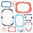 Set cute frames — Stock Vector #13778601