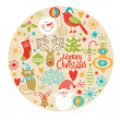 Christmas and New Year's decorative elements — Stock Vector #13778604