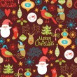 Seamless background, Christmas and New Year's decorative elements — Stockvectorbeeld