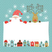 Greeting Christmas and New Year card — Stock Vector