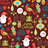Seamless background, Christmas and New Year's decorative elements — Stockvektor