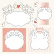 Set of romantic elegance frames — Stockvektor  #21885923