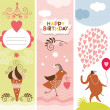 Royalty-Free Stock Vector Image: Set of vertical holiday banners