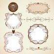 Set of frames, ornamental design elements — Stock Vector #21886003