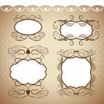 Set of frames, ornamental design elements — Stock Vector #21886067