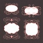 Set of frames, ornamental design elements — Stock Vector #21886069