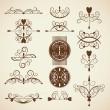 Set of frames, ornamental design elements — Stock Vector