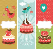 Set of vertical holidays banners — Stock Vector