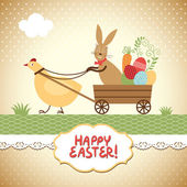Paskalya tebrik kartı — Stok Vektör