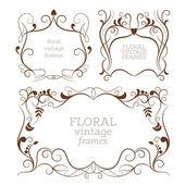 Set of frames, ornamental design elements — Vecteur