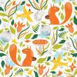 Seamless pattern with a cute squirrels — Stock Vector #27287873