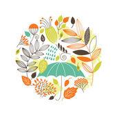 Herbst illustration — Stockvektor