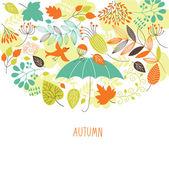 Autumn illustration — Stock Vector