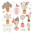 Sweet home ,set of vector elements — Stock Vector #31988057