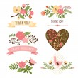 Floral banners for life events, vector collection — Stock Vector #31988067