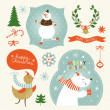Set of Christmas and New Year's graphic elements — Stock Vector #31988097