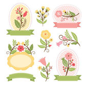 Floral set, vector collection — Stock Vector