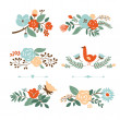 Floral graphic set, vector collection — Stock Vector #33389703
