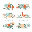 Floral graphic set, vector collection — 图库矢量图片