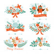 Set of Christmas and New Year graphic elements — Stock Vector