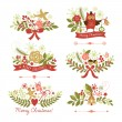 Set of Christmas and New Year graphic elements — Stock Vector #33389723