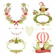 Set of Christmas and New Year graphic elements — Stock Vector #33389743