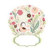 Elegance floral frame — Stock Vector