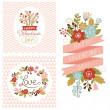 Stock Vector: Valentine's day cards