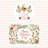 Valentine's day graphic elements, valentine card — Stock Vector