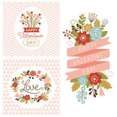 Valentine's day cards — Vettoriale Stock