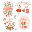 Happy easter cards illustration with easter eggs — Stock Vector #40752001