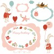 Happy Birthday set — Stock Vector #40758311