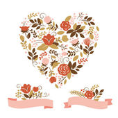 Valentine s day or wedding card — Stock Vector