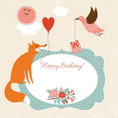 Greeting card — Vector de stock