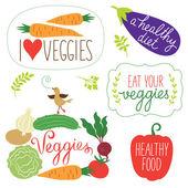 Vector vegetables illustration — Stock Vector