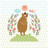 Cute Bear — Stock Vector
