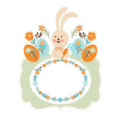 Easter bunny, easter card — Stock Vector