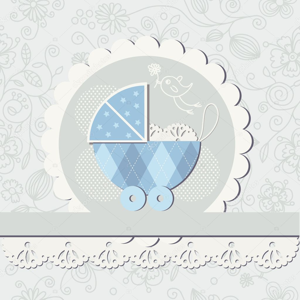 Baby boy arrival card vector by leonart image 600444 vectorstock - Baby Boy Arrival Announcement Card Vector Stock Wallpaper Gallery Baby Boy Shower Card Arrival Card