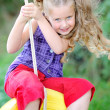 Portrait of little girl outdoors in summer — Stock Photo #14645149