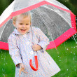 Portrait of little girl with umbrella — Stock Photo #14824129