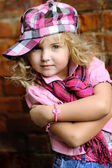 Portrait of a Beauty and fashion child girl — Stock Photo