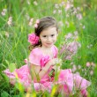 Portrait of little girl outdoors in summer — Stock Photo #14925727