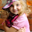Portrait of a Beauty and fashion child girl - Stock Photo