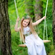 Portrait of little girls outdoors in summer — Stock Photo