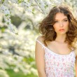 Portrait of a beautiful girl in spring — Stock Photo #25424097