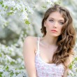 Portrait of a beautiful girl in spring — Stock Photo #25424141