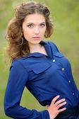 Retrato de uma moda glamourosa garota bonita — Fotografia Stock