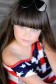 Portrait of a beautiful fashion little girl — Stok fotoğraf