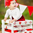 Portrait of little girl with decor style Valentine's Day — Stock Photo #38801171