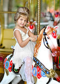 Portrait of a little girl princess — Stock Photo